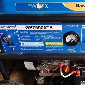EWorx GP7500ATS 6kVA Petrol Generator