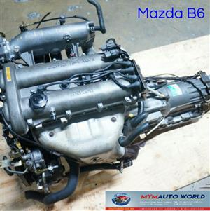 Imported used  MAZDA 323BG/ASTINA 16V DOHC, B6 16V engine. Complete second hand used engine
