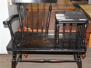 Brown Telephone table S033593C #Rosettenvillepawnshop