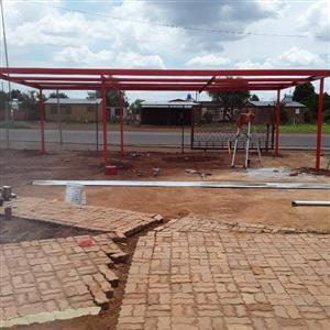 Structures Roofs, workshops, shed ports-0663478429- we fabricate quality steel structures roofs, carports, shed ports prevent hail & sun for affordable prices