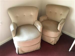 Vintage upholstered chairs for sale