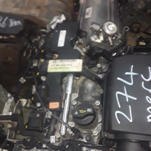 Mercedes benz W204 274 engine and auto gear box for sale