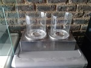 2 Glass vases for sale