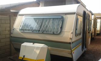 gypsey caravette 5 with full tent rally tent and big fridge and freezer in excellent condition