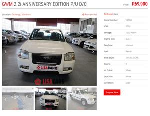 2010 GWM Double Cab 2.2MPi Anniversary Edition