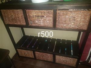 6 Basket drawer wooden stand