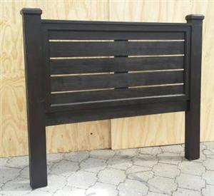 Headboard Farmhouse series Queen size Horizontal slats - Stained
