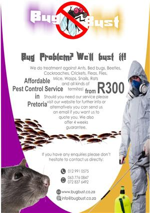 Bug Bust (PLT) LTD