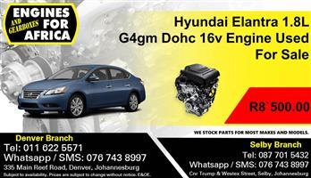 Hyundai Elantra 1.8L G4gm Dohc 16v Engine Used For Sale.