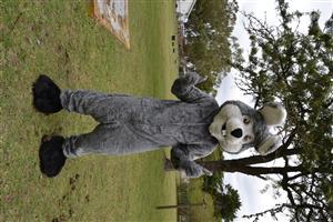 Grey Bunny Mascot