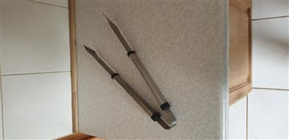 Braai Tongs - Stainless Steel about 40cm Long