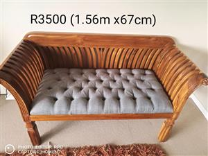 2 Seater cane chair for sale