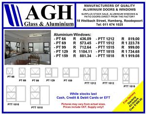ALUMINIUM SPECIALS ON WINDOWS!!!!