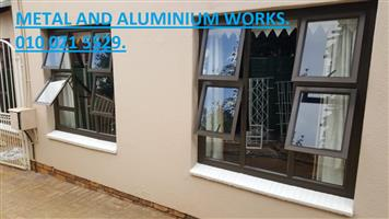 REPLACE YOUR OLD WINDOWS IN ONE DAY. NON RUST ALUMINIUM WINDOWS.  METAL AND ALUMINIUM WORKS.