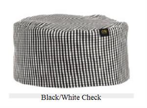 Chef Beanie - Black-White Check