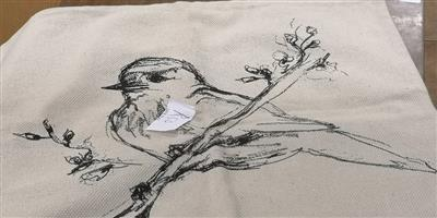 Bird on cloth sketch for sale