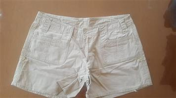 Beige ladies summer shorts