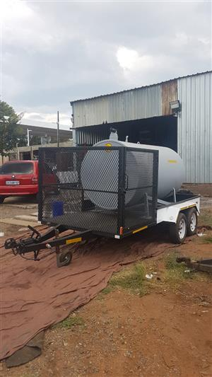 Trailer and 2500lt Tank