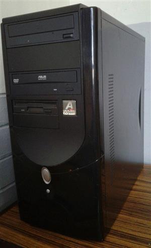 Box only. 3.00 GHz X2 Core processor. PA74M5-LF Motherboard.AMD Athlon 80 Gig hard drive  2 Gig DDR2 DVD rom.