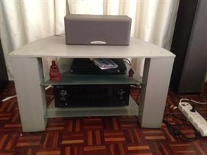 Fancy TV Stand is very sturdy and solid. Price is negotiable. Make an offer.