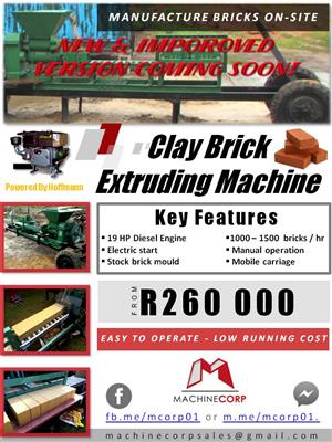 Clay Brick Extruding Machine - Creating Opportunity