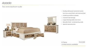 PERILLI Acacia Two-Tone Bedroom Suite