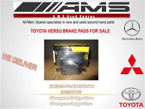 TOYOTA VERSO BRAKE PADS FOR SALE