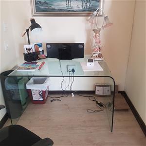 Glass Desk Workstation
