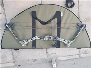 Compound Bow with bag, trigger and butt
