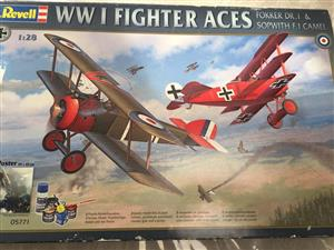 Revell WWi Fighter Aces 1:28 Scale Series featuring The Red Baron!