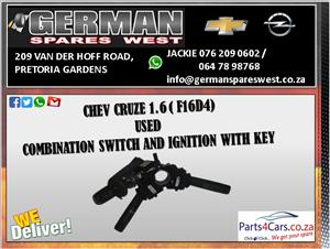 CHEV CRUZE 1.6 ( F16D4 ) COMBINATION SWITCH AND IGNITION WITH KEY FOR SALE