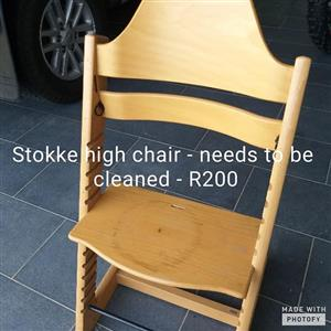 Stokke high chair for sale