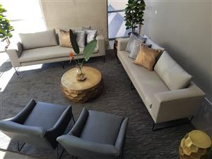Custom made couches for hotel, restaurant and game lodges.