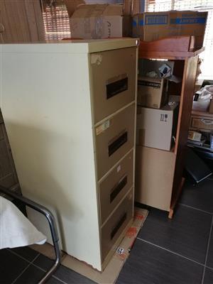 Three draws steel filing cabinet