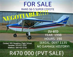 RANS S6-S SUPER COYOTE FOR SALE! | Junk Mail