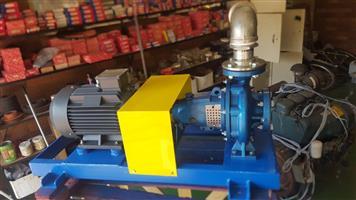 Water pump.rrigation pump. Centrifugal pump. Pump and motor