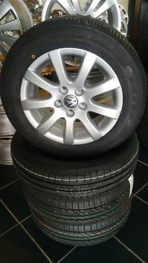 Vw polo oem original 14inch mags with new tyres 4x set combo r4999