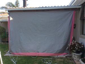 Caravan rally tent 4m for expo