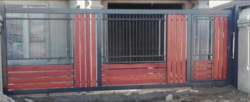 Gate for sale, clearvu mesh and wood