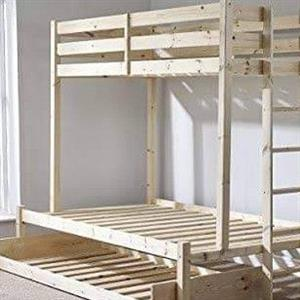 pine loft bed with pull out bed