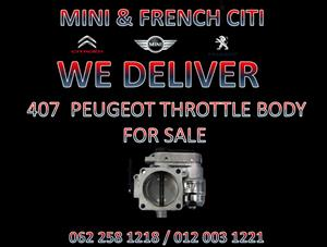 407 PEUGEOT THROTTLE BODIES FOR SALE AT MINI AND FRENCH CITI