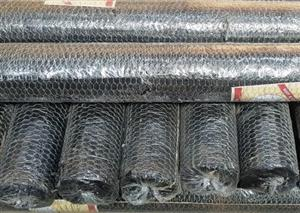 Galvanised hexagonal bird netting