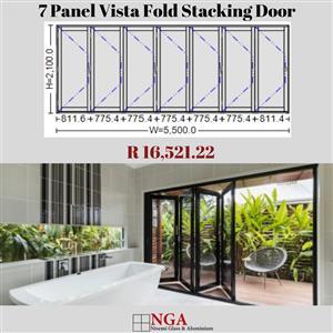 NGA 7 Panel Vista Fold Stacking Door