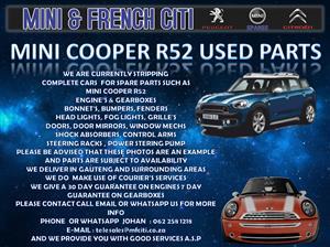 USED PARTS ON MINI R52