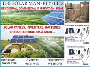 THE SOLAR MAN PTY LTD: SUPPLIER OF: Residential, Commercial,Irrigation solar Systems.