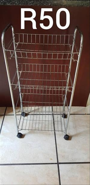 Vegetable rack with wheels for sale