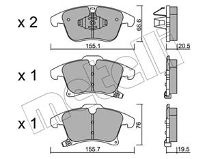 Ford Mondeo V 2.0 EcoBoost Front Brake Pads Available At Voxwagen, Lenasia.