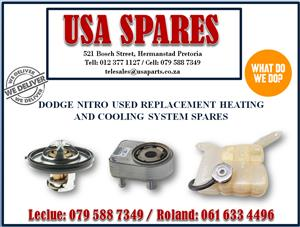 DODGE NITRO USED REPLACEMENT HEATING AND COOLING SYSTEM SPARES- USA SPARES CAL NOW
