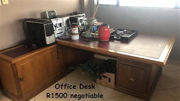 Large wooden office desk for sale