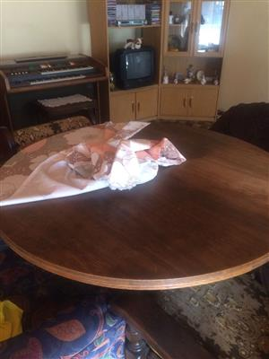 Round Table with dresser to match